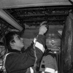 Câblage en cours du 3ème fanal de la BB 67382
